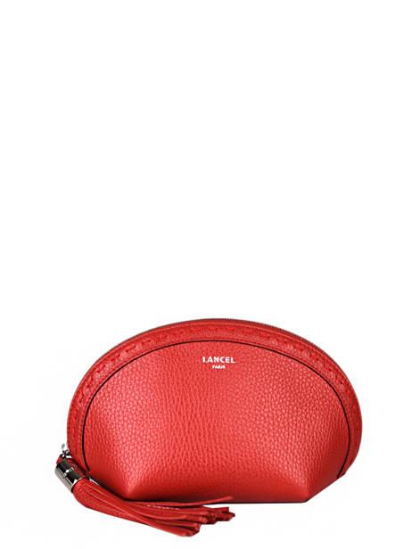 Leather Premier Flirt Pouch Lancel Red premier flirt A11134