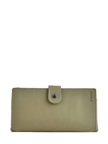 Purse Leather Etrier Green blanco 600907