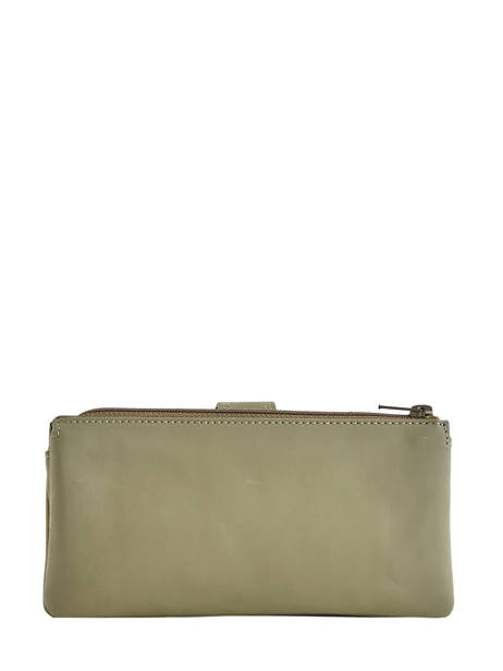 Purse Leather Etrier Green blanco 600907 other view 2