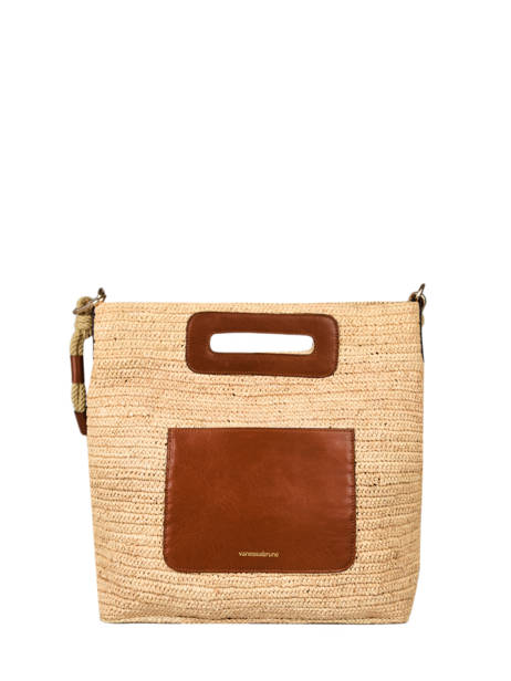 Holly Tote Bag Raffia And Leather Vanessa bruno Brown holly 67V40576