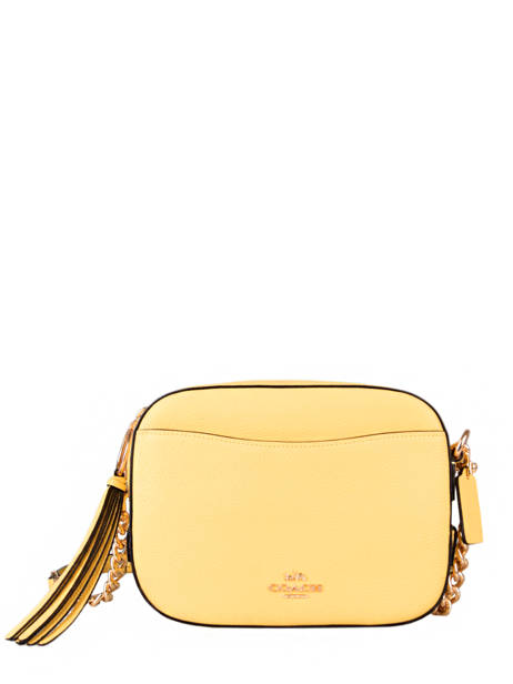 Sac Bandoulière Camera Bag Cuir Coach Jaune camera bag 29411