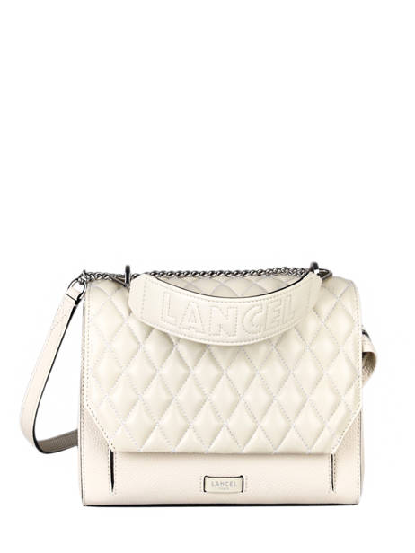 Quilted Leather Ninon Top-handle Bag Lancel Beige ninon A11132