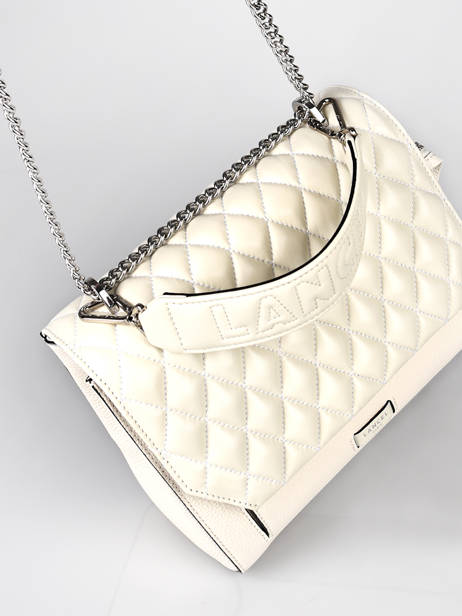 Quilted Leather Ninon Top-handle Bag Lancel Beige ninon A11132 other view 2