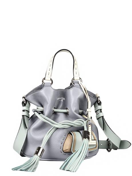 Small Leather Bucket Bag Premier Flirt Lancel Blue premier flirt A10530