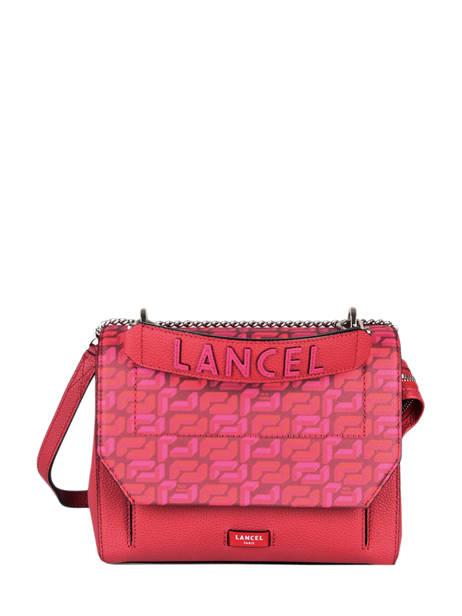 Medium Leather Lancelgram Bag Lancel Red lancelgram A11855