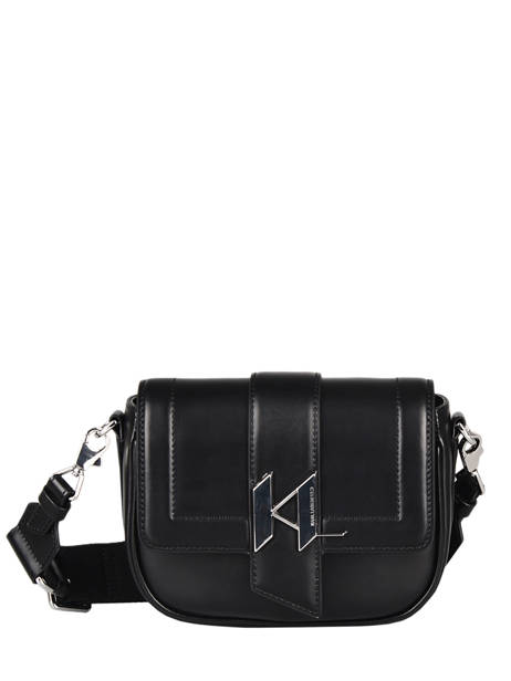 Leather K/saddle Crossbody Bag Karl lagerfeld Black k saddle 216W3039