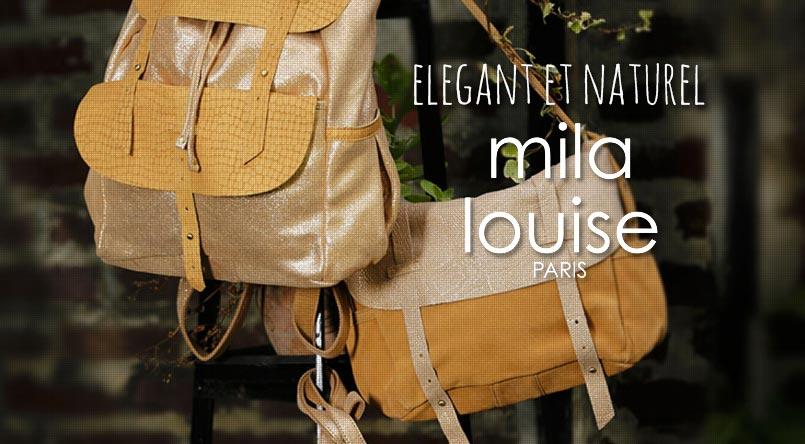 sac pieces cuir naturel mila louise