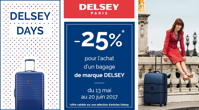 promotion valise delsey